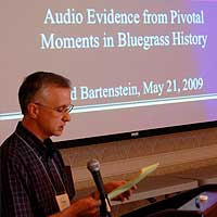 Fred Bartenstein presents at the International Country Music Conference, Belmont University, Nashville, TN, May, 2009.  (photo: James Akenson)